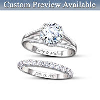 Diamonesk® Personalised Bridal Ring Set