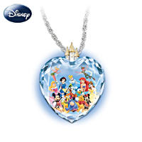 Magic of Disney Faceted Glass Heart Pendant