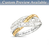 Together In Love Personalised Diamond Ring