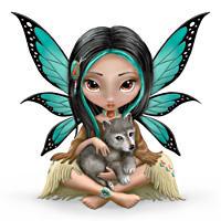 Jasmine Becket-Griffith Mystical Fairy With Wolf Figurine