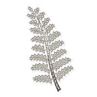 Silver Fern Brooch