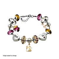 Brisbane Broncos Charm Bracelet with Swarovski Crystals