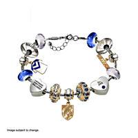 Canterbury Bulldogs Charm Bracelet with Swarovski Crystals