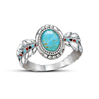Native American-Inspired Sterling Silver And Turquoise Ring
