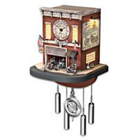 \'Freedom Choppers\' Motorcycle Garage Cuckoo Clock