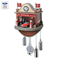 \'Ford Mustang Garage\' Cuckoo Clock