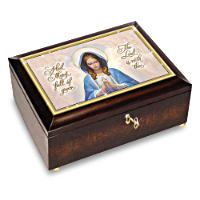 \'Our Blessed Mother\' Heirloom Music Box And Golden Rosary