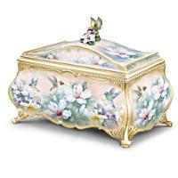 Lena Liu \'Jewels Of The Garden\' Heirloom Porcelain Music Box