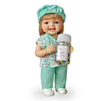 Be Nice, I\'m In Charge Miniature Baby Doll by Cheryl Hill