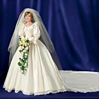 Princess Diana Commemorative Poseable Porcelain Bride Doll