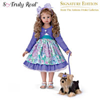 Leah And Sadie Child Doll And Plush Set