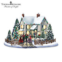 Thomas Kinkade Christmas Village Set With Singing Carollers