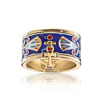 \'Majesty Of Egypt\' Enamel Charm Ring