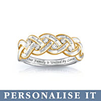 \'Strength Of Family\' Personalised Diamond Ring