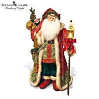 Thomas Kinkade 36-Inch Lamplight Santa Figurine