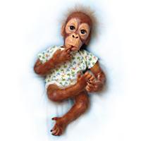 \'Baby Pongo\' Poseable Orangutan Baby Doll