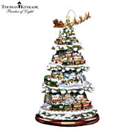 Thomas Kinkade \'Wonderland Express\' Christmas Tree