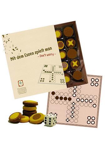Spiel aus Schwarzweißgebäck, »Spiel Don`t worry - Mit dem Essen spielt man«, Confiserie Rabbel