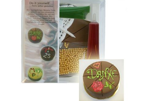 Confiserie-Set Haselnusstorte: Do it yourself..., »Torte ausgarnieren«, Confiserie Rabbel