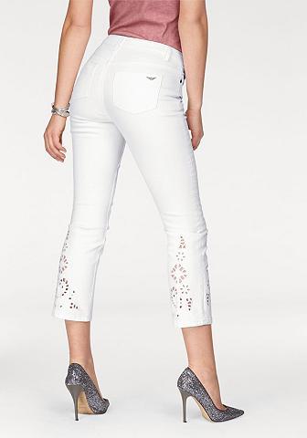 Arizona 7/8-Jeans »mit Lochstickerei«