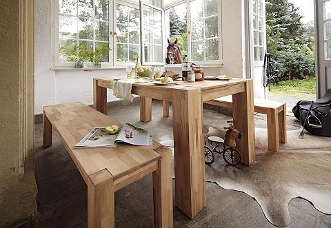 Massivholz-Esstisch, Home affaire, ausziehbar