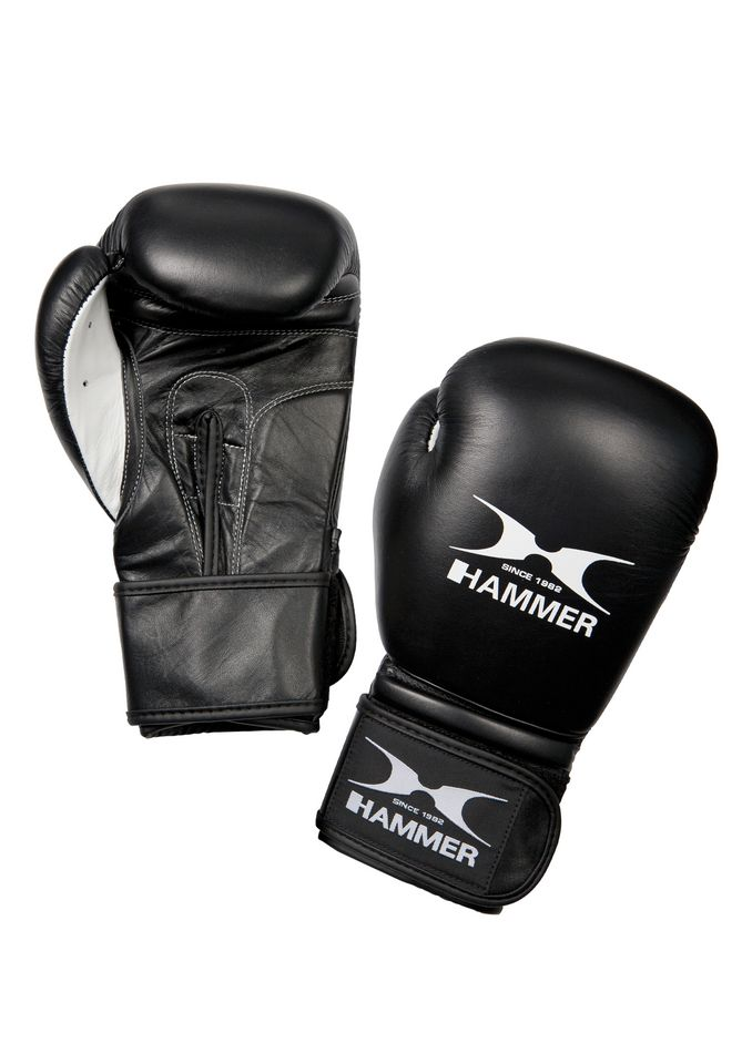 HAMMER Boxhandschuhe, Rindsleder, schwarz-weiss, »Premium Fight«, Hammer®