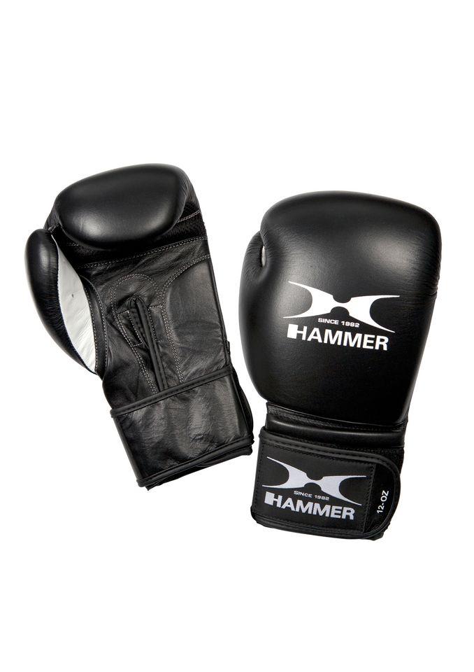 HAMMER Boxhandschuhe, Büffelleder, schwarz-weiß, »Premium Fitness«, Hammer®