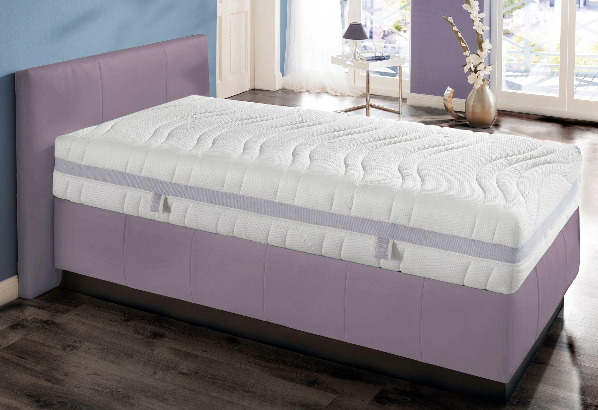 BECO Komfortschaummatratze, »gut Schlafen Bezug«, BeCo, 29 cm hoch, Raumgewicht: 35, extra hoch und komfortabel mit atmungsaktiven Klima-Bezug