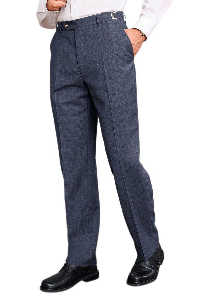 CLASSIC Classic Bundfalten-Hose mit elastischem Komfortbund