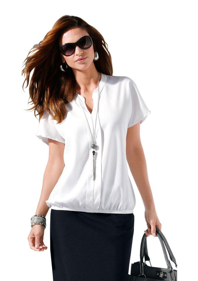 CLASSIC INSPIRATIONEN Classic Inspirationen Bluse mit überschnittener Schulter