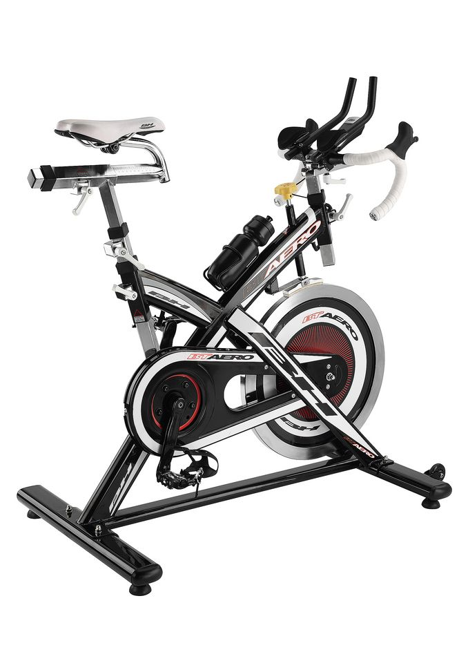 BH FITNESS Indoor Cycle, schwarz-silber, »BT Aero«, BH-Fitness