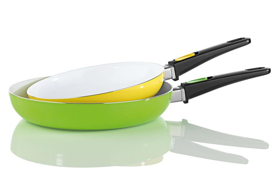 BRATMAXX BRATmaxx Pfannen, Keramik 2er-Set gelb/grün