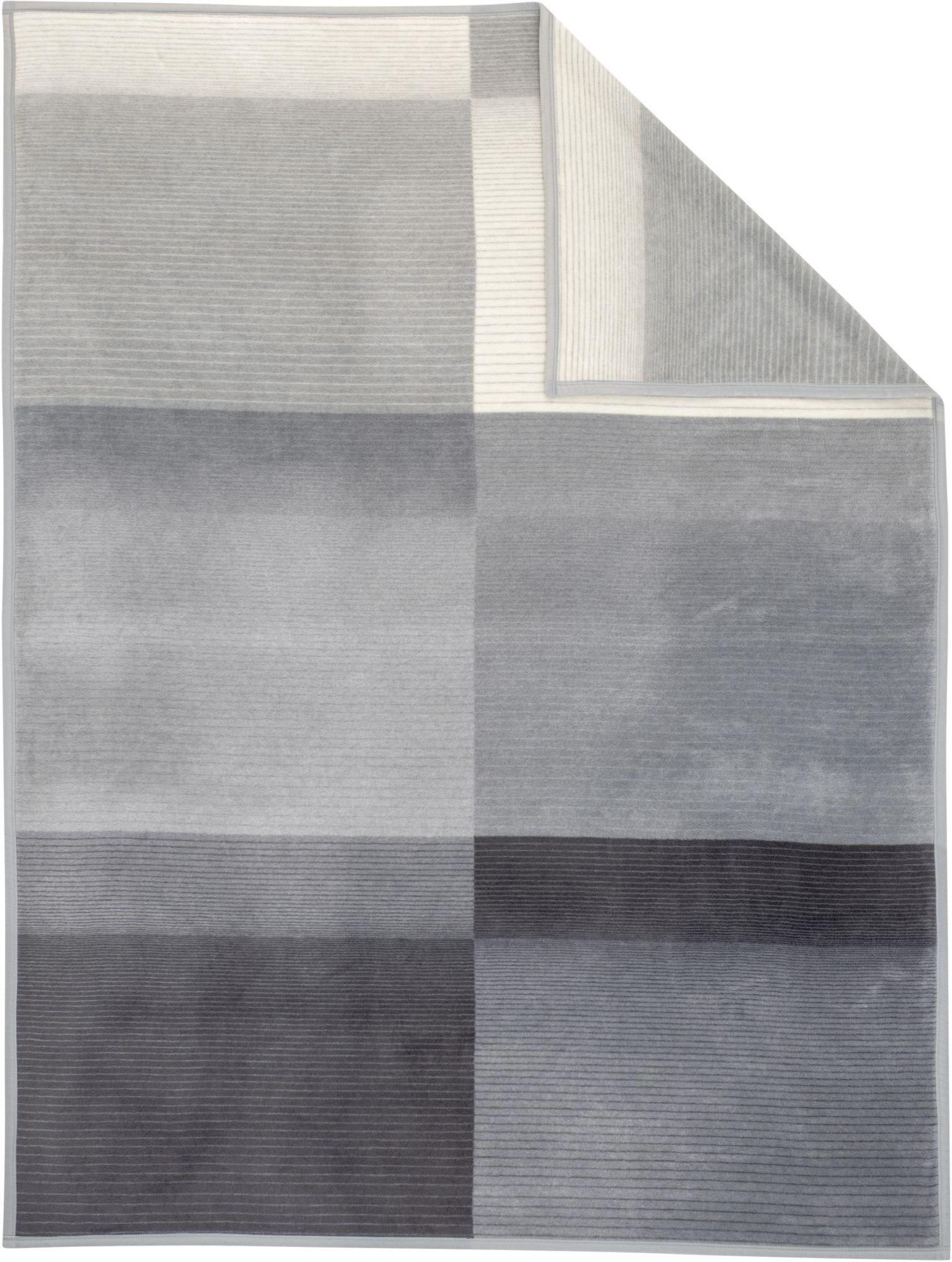 IBENA Wohndecke, Ibena, »Blacky«, mit dezenten Streifen