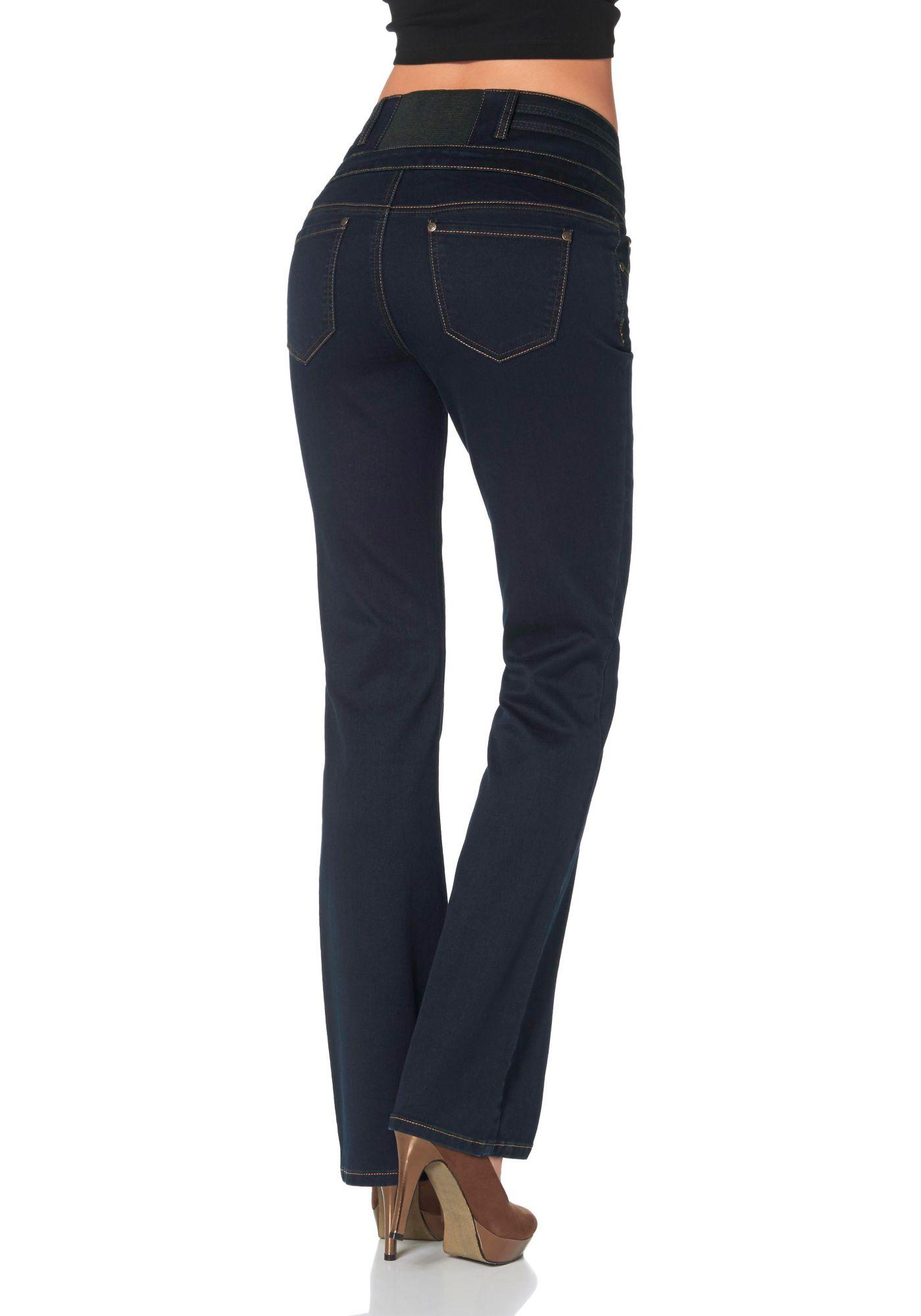 ARIZONA Arizona Bootcut-Jeans »Stretch- Einsatz hinten im Bund«