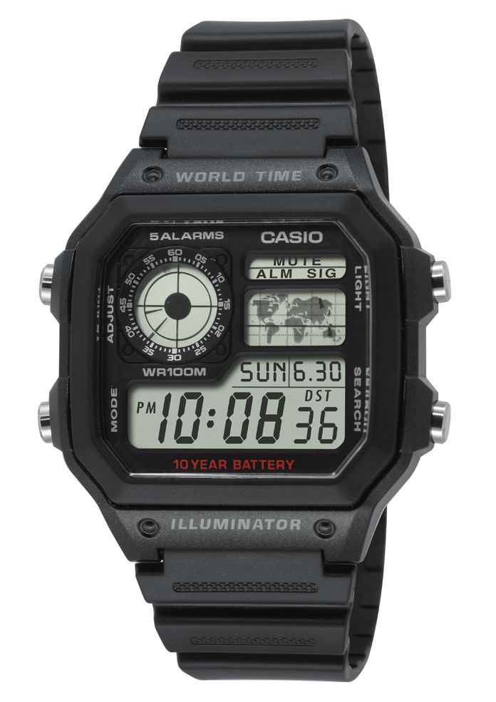 CASIO COLLECTION Casio Collection Chronograph »AE-1200WH-1AVEF«