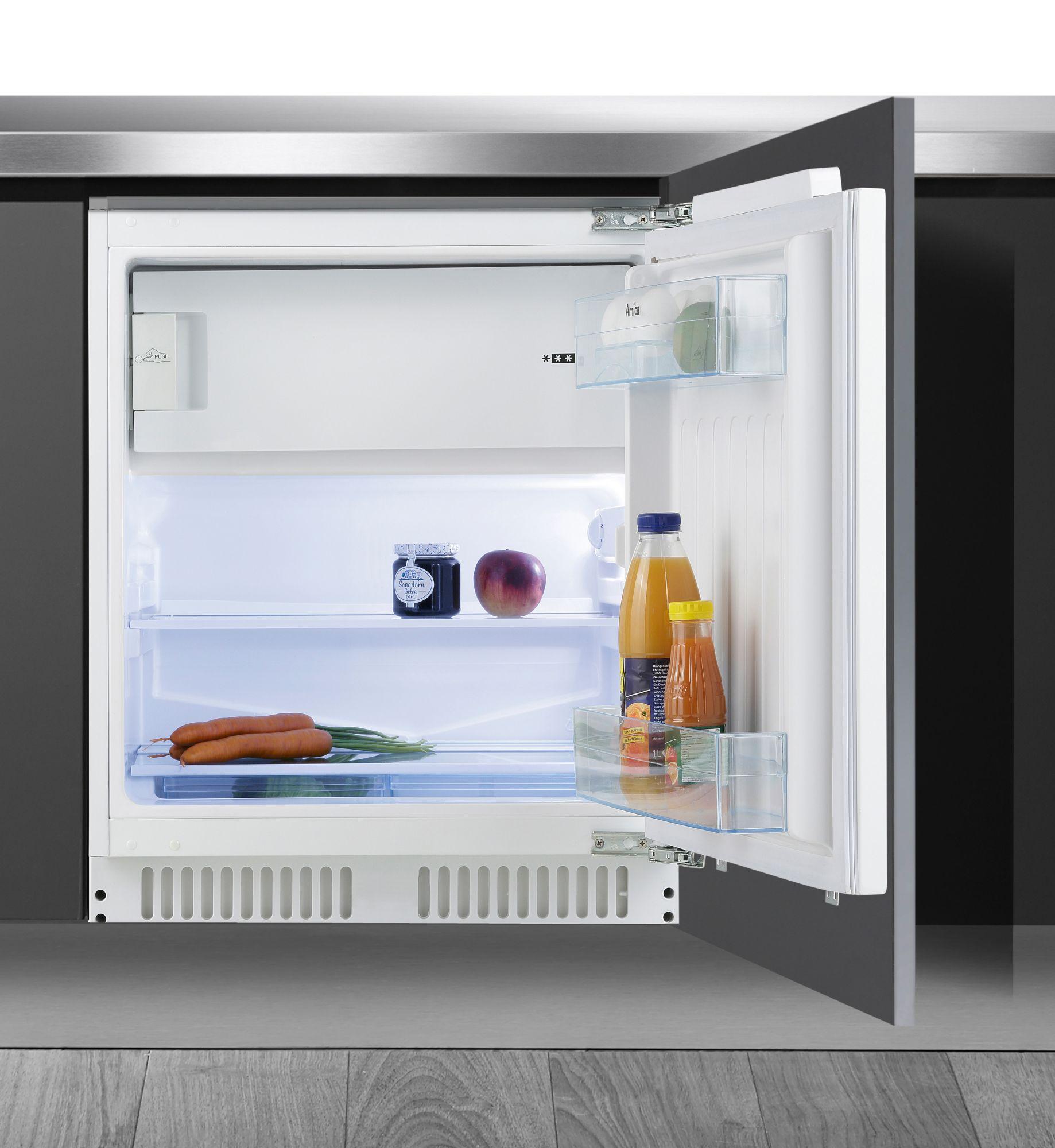 AMICA Amica Einbaukühlschrank UKS 16158, A++, Höhe max. 87 cm