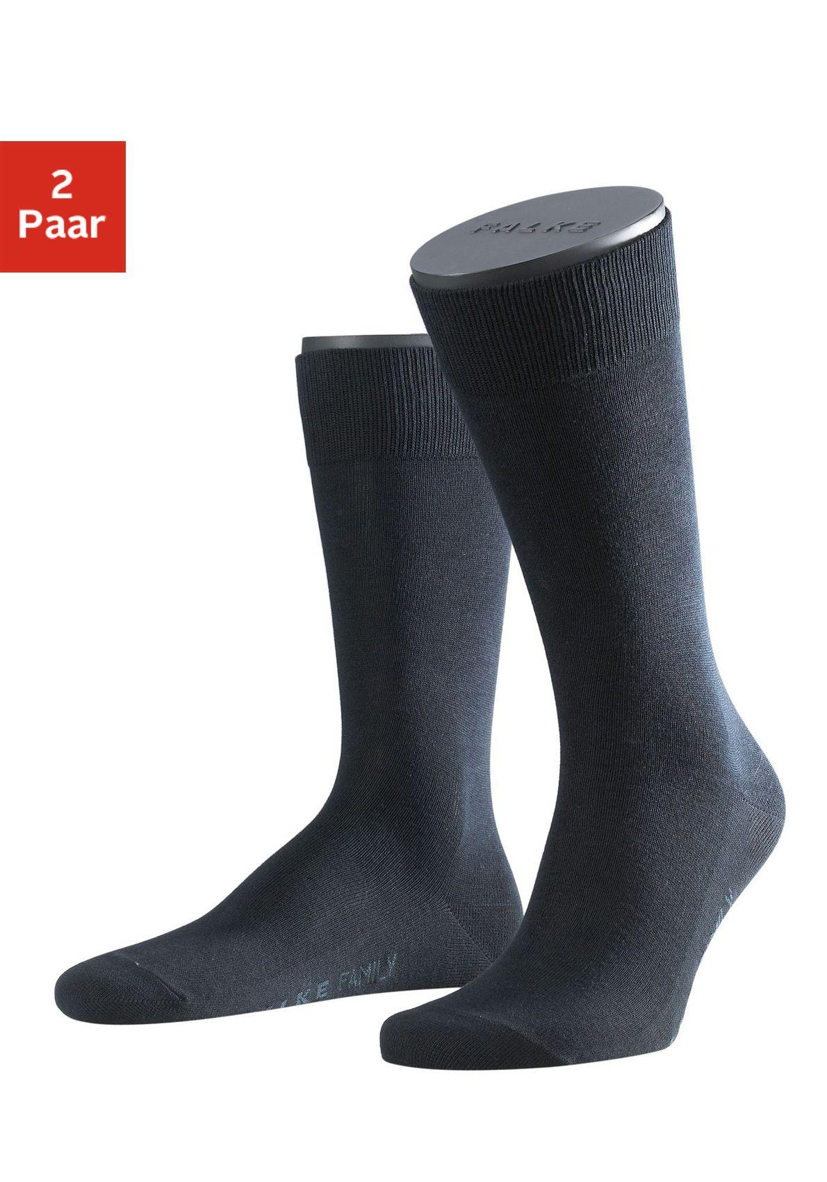 FALKE Falke Socken »Family« (2 Paar) mit extrahohem Baumwollanteil