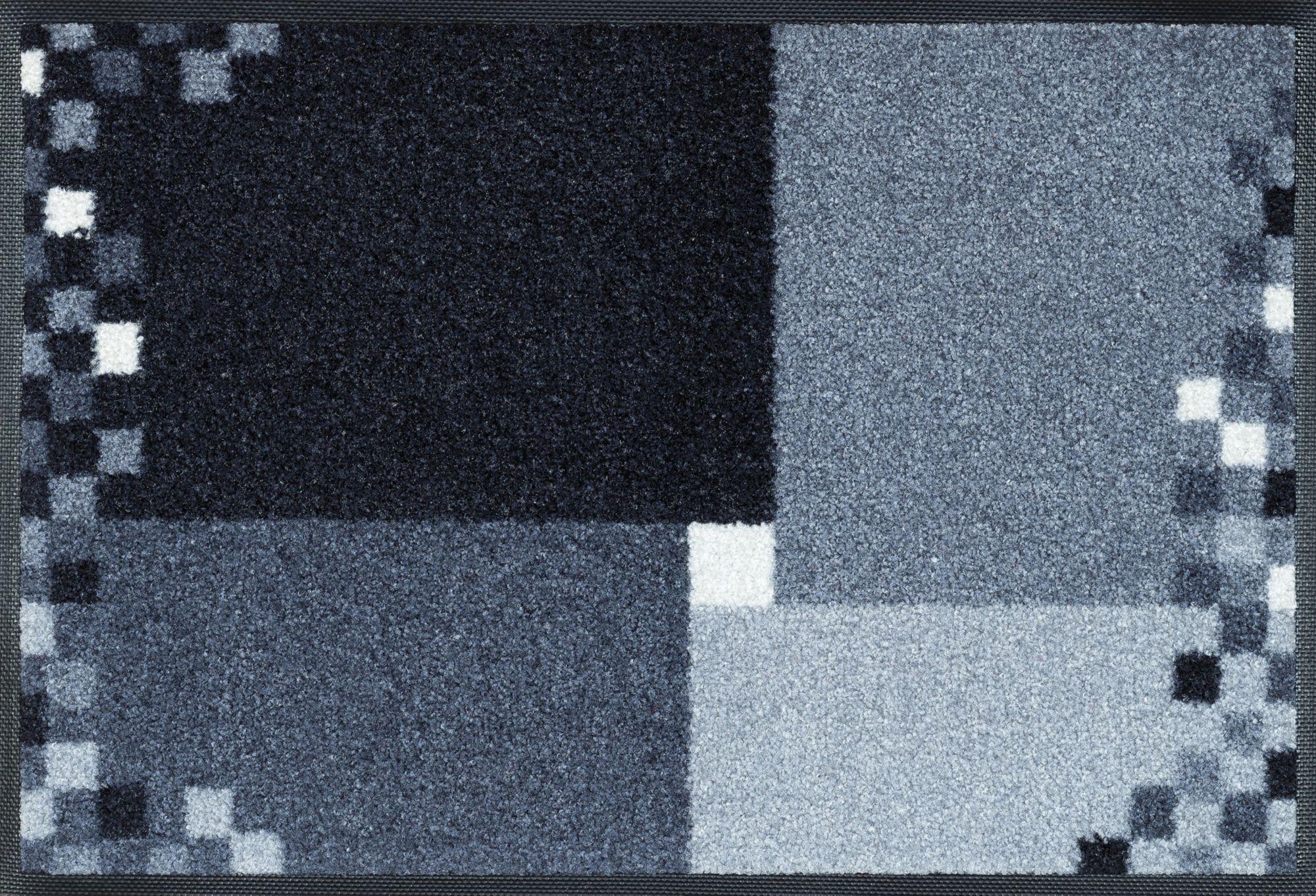 Fußmatte, »Mosaico grau«, wash+dry by Kleen-Tex, rechteckig, Höhe 9 mm, gedruckt