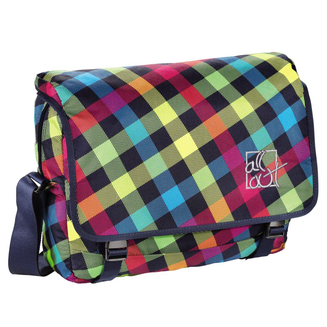 ALL OUT All Out Schultertasche Barnsley, Rainbow Check