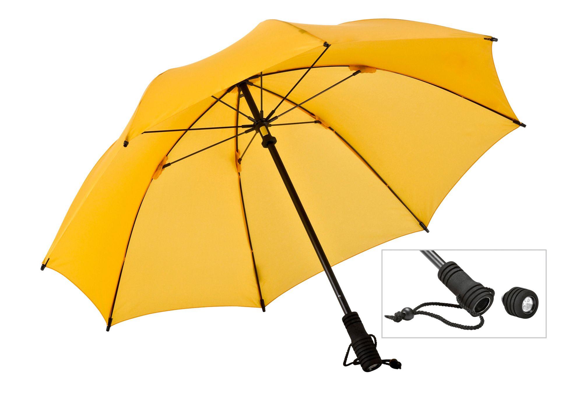 EUROSCHIRM® Euroschirm® Regenschirm mit Taschenlampe, »Swing FLASHLITE«