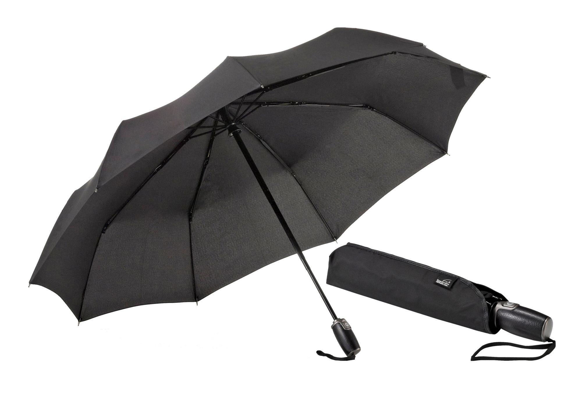 EUROSCHIRM® Euroschirm® Regenschirm mit Elchleder, »One For One - Elchleder-Taschenschirm«