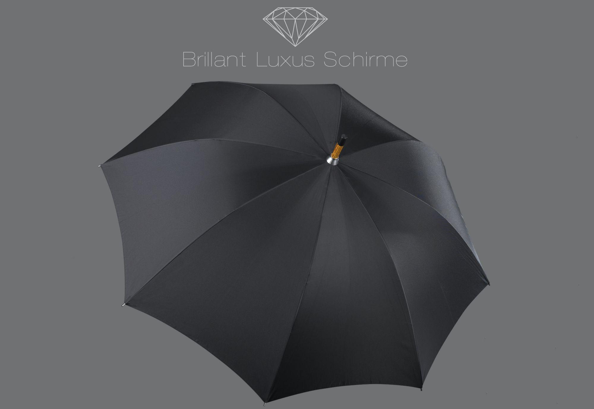 EUROSCHIRM® Euroschirm® Regenschirm mit Ahorngriff, »Brillant Luxus Herrenschirm«