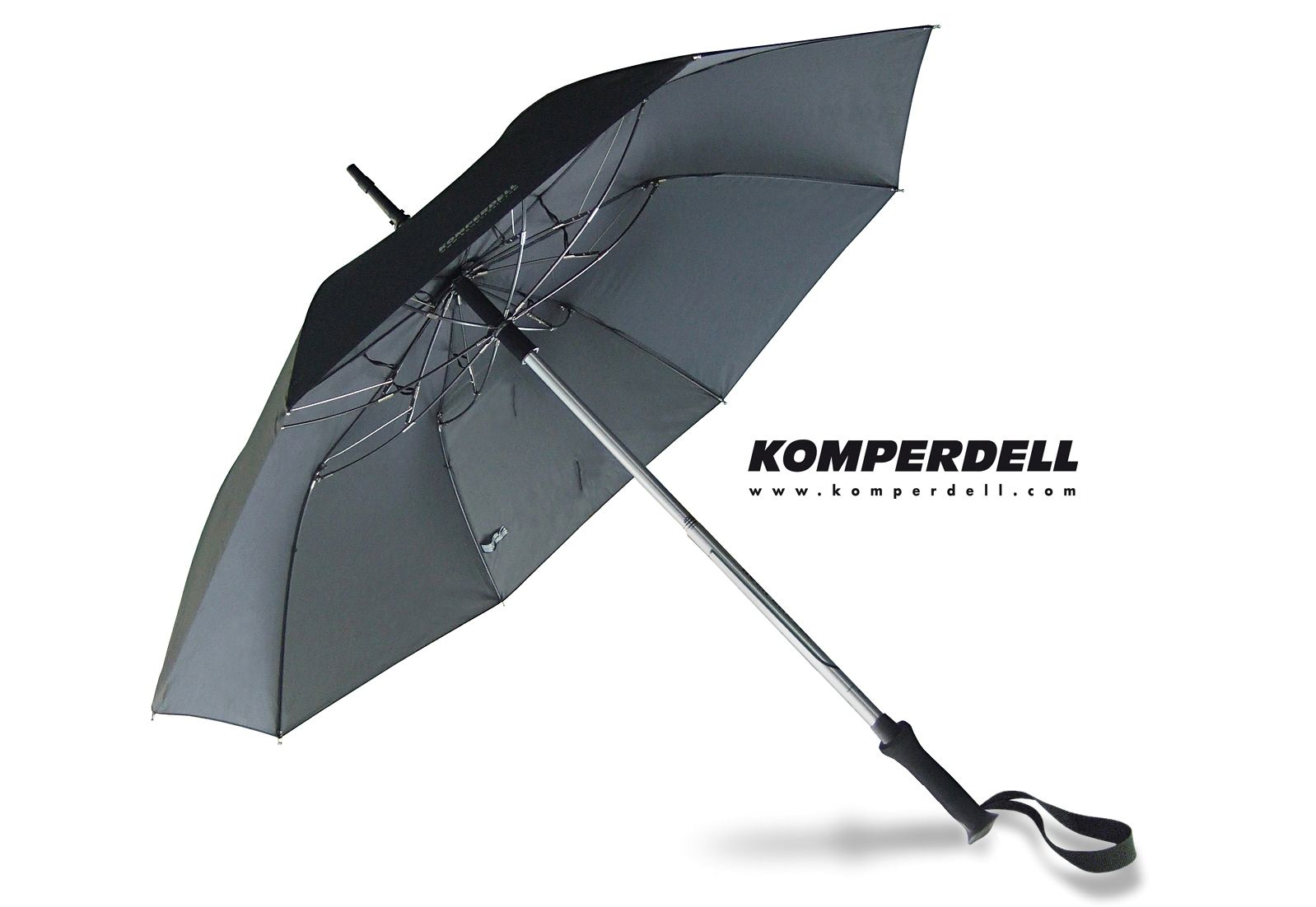 EUROSCHIRM® Euroschirm® Regenschirm - Wanderstock, »KOMPERDELL Teleskop-Wanderstock m. integriertem Schirm«