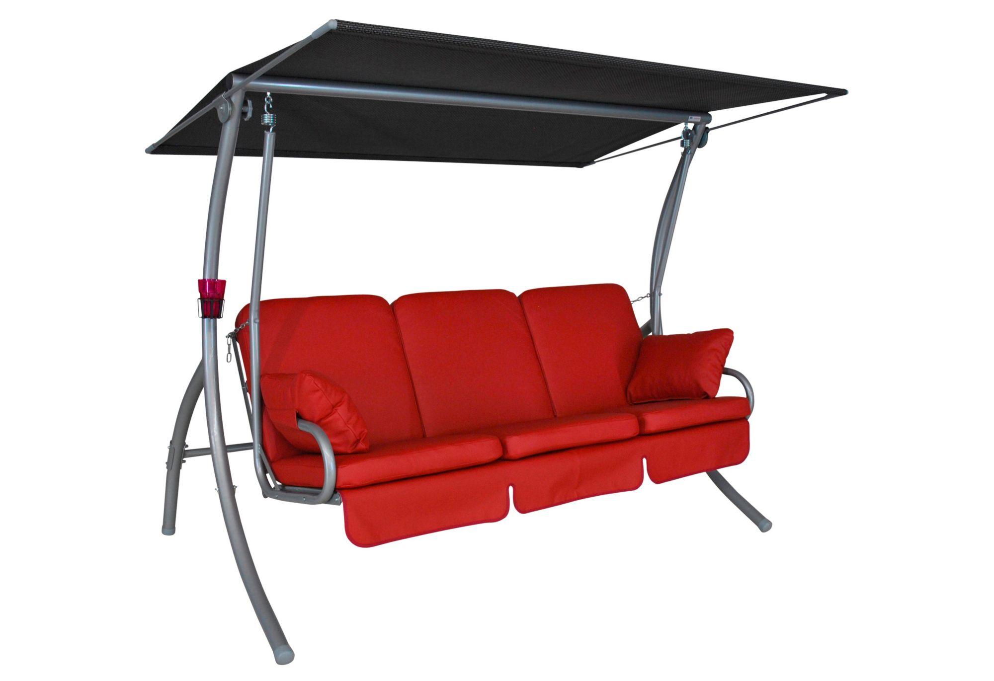 ANGERER FREIZEITMÖBEL  Hollywoodschaukel »Primero Premium«, 3-Sitzer, rot