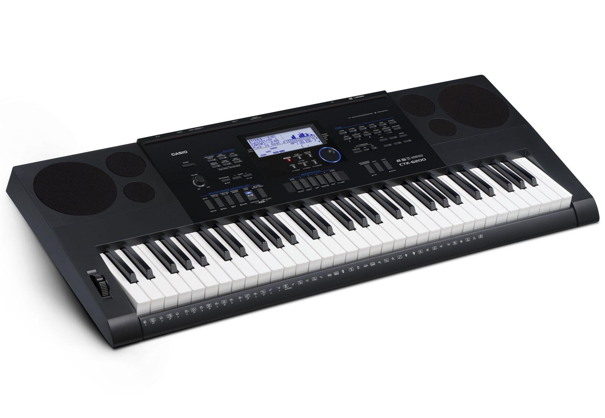 CASIO Casio® Keyboard, »CTK-6200 inkl. Netzteil u. Notenhalter«