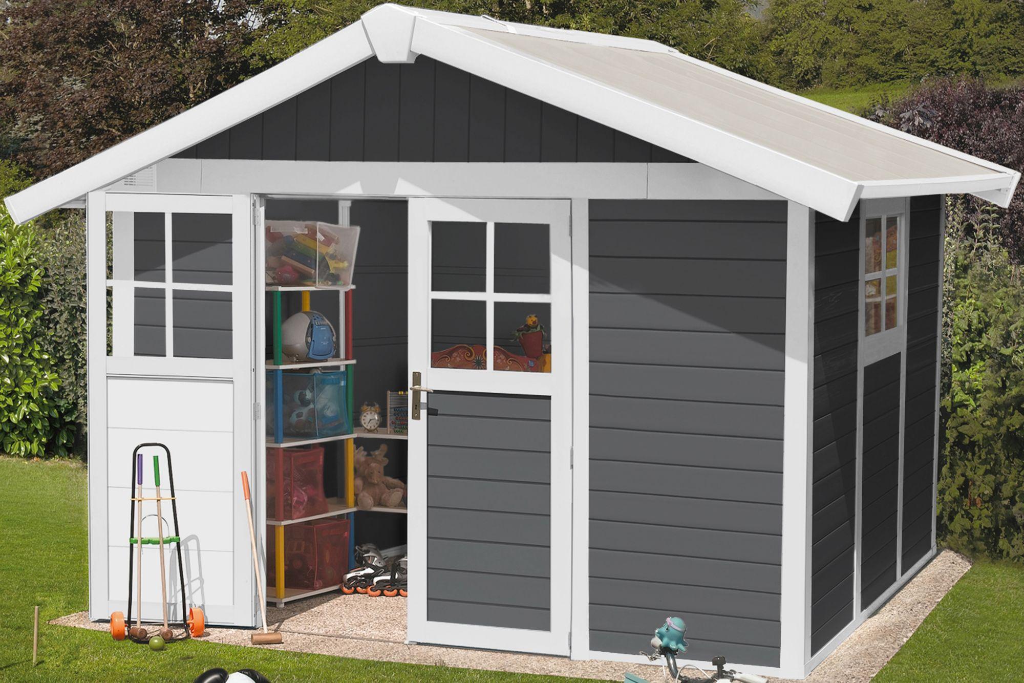 GROSFILLEX Grosfillex Kunststoffhaus »Deco H 7,5«, BxT: 315x239 cm, in 2 Farben