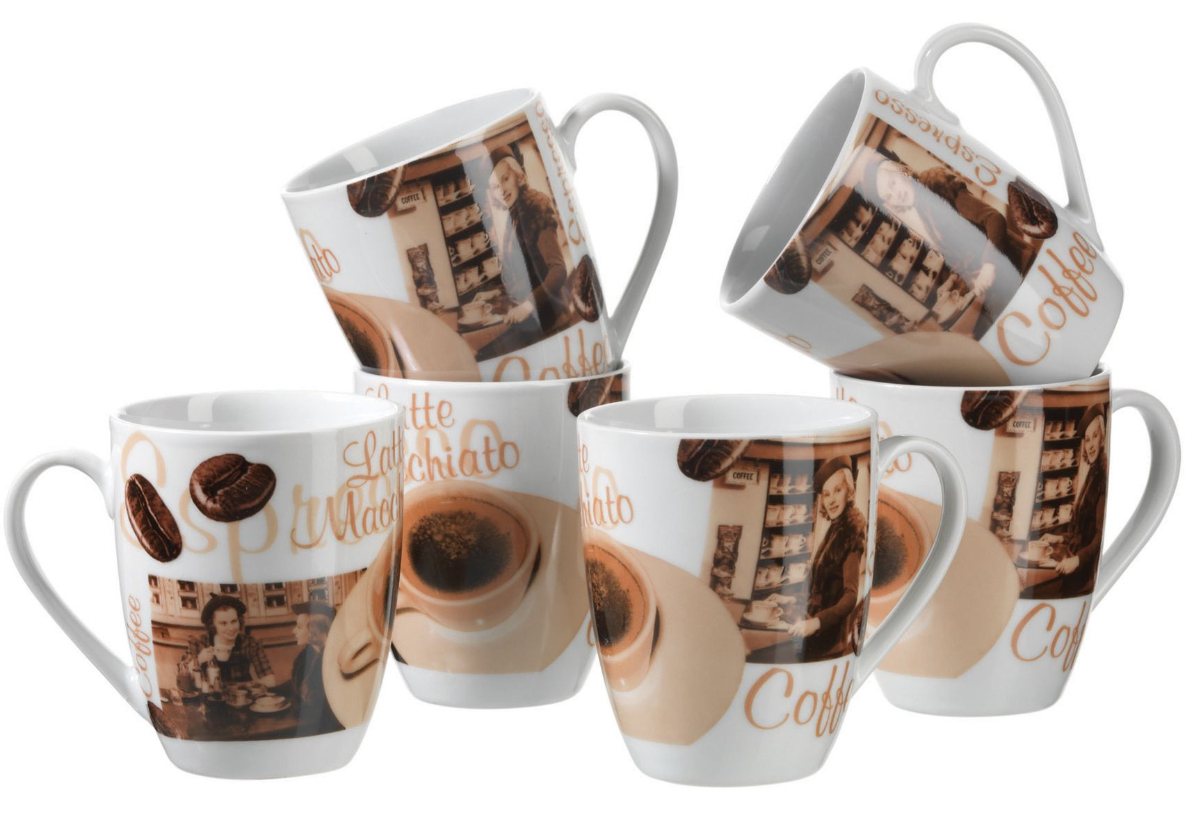 DOMESTIC Kaffeebecher-Set, Domestic (6 Stck.)