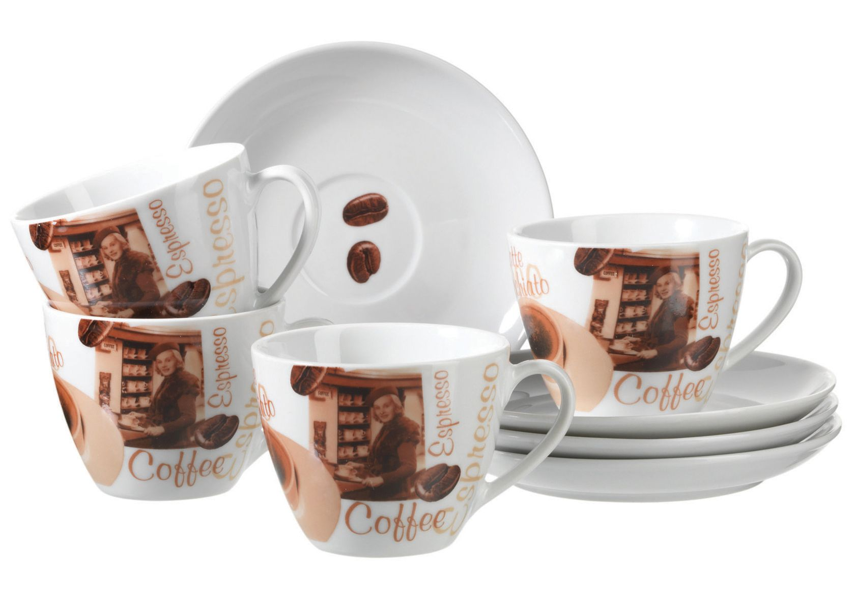 DOMESTIC Cappuccino-Set, Domestic (8-tlg.)