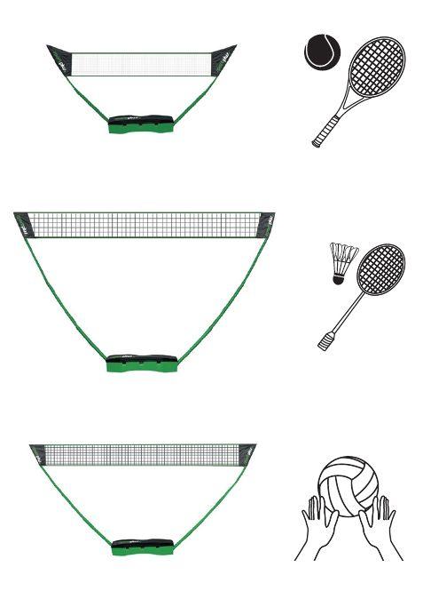 SPORTPLUS 3in1 Netz, »SP-NET-031«, Sportplus,  für Soft-/Fußball-Tennis, Badminton und Volleyball