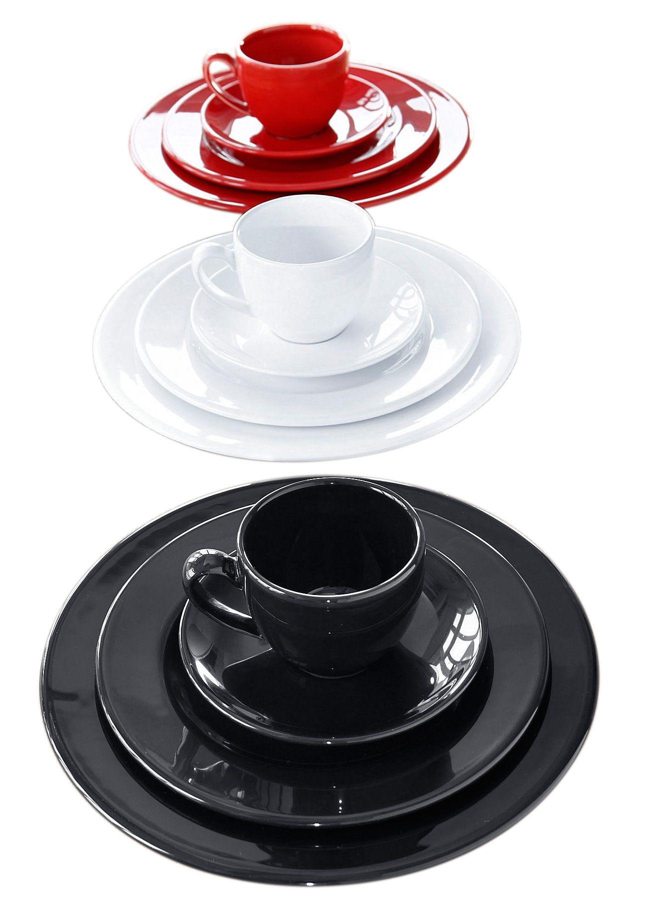 CREATABLE CreaTable Kaffeeservice, Steingut, »CASA ALEGRE« (18-teilig)